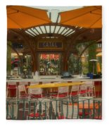 Catal Outdoor Cafe Downtown Disneyland 02 Fleece Blanket