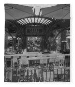 Catal Outdoor Cafe Downtown Disneyland Bw Fleece Blanket