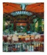Catal Outdoor Cafe Downtown Disneyland Photo Art 03 Fleece Blanket