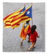 Catalan National Day 2014 Fleece Blanket