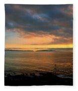 Catalina Island Sunset Fleece Blanket