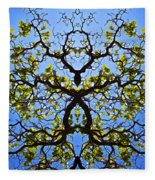 Catalpa Tree Fleece Blanket