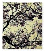 Catalpa Tree Gold Fleece Blanket