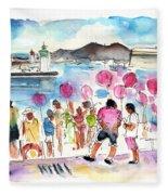 Catamaran Party In Cartagena Fleece Blanket