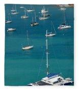 Catamaran  St Thomas Usvi Fleece Blanket