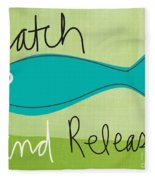 Catch And Release Fleece Blanket