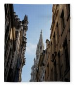 Catching A Glimpse Of Grand Place Brussels Belgium Fleece Blanket