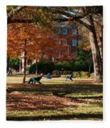 Catching Rays - Davidson College Fleece Blanket