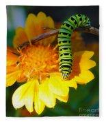 Caterpillar On The Prowl Fleece Blanket