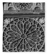 Cathedral De Notre Dame Fleece Blanket