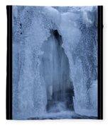Cathedral Ice Waterfall Fleece Blanket