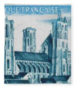 Cathedral Of Laon Fleece Blanket