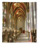 Cathedral Of Saint Helena Fleece Blanket