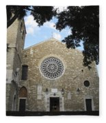 Cathedral Of San Giusto Fleece Blanket