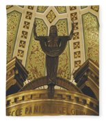 Cathedral Of The Immaculate Conception Detail - Mobile Alabama Fleece Blanket