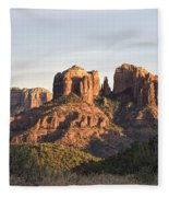 Cathedral Rock At Sunset Fleece Blanket