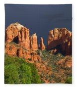 Cathedral Rock Before The Storm Fleece Blanket