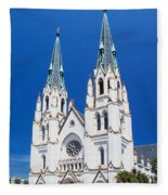 Cathedral, Savannah, Georgia Fleece Blanket