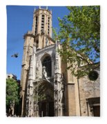 Cathedral St Sauveur - Aix En Provence Fleece Blanket