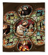 Cathedral Stained Glass Fleece Blanket