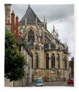 Cathedrale Saint - Cyr - Et - Sainte - Julitte De Nevers Fleece Blanket