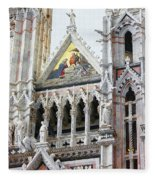 Cathedrals Of Tuscany Siena Italy Fleece Blanket