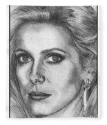 Catherine Deneuve In 1976 Fleece Blanket