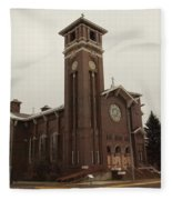 Catholic Church In Lewesiton  Fleece Blanket