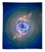Cat's Eye Nebula Fleece Blanket