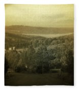 Catskill Mountains New York  Barn-shandelee - Featured In Comfortable Art And All About Ny Groups Fleece Blanket