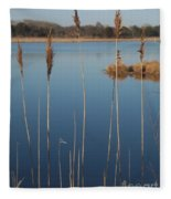 Cattails Cape May Point Nj Fleece Blanket