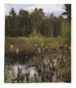 Cattails Fleece Blanket