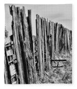 Cattle Fence By Diana Sainz Fleece Blanket