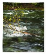 Caught By The Water Fleece Blanket