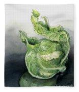 Cauliflower In Reflection Fleece Blanket
