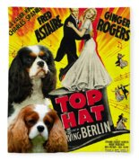 Cavalier King Charles Spaniel Art - Top Hat Movie Poster Fleece Blanket
