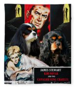 Cavalier King Charles Spaniel Art - Vertigo Movie Poster Fleece Blanket