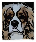 Cavalier Spaniel Fleece Blanket
