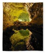 Cave On Lanzarote Fleece Blanket
