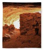 Cave Ruin 2 Fleece Blanket