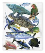 Cayman Collage Fleece Blanket