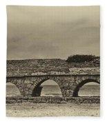 Ceasarea Aqueduct 1 Antiqued Fleece Blanket