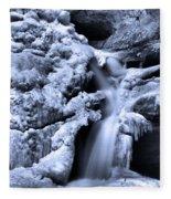 Cedar Falls In Winter Fleece Blanket