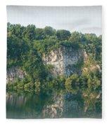 Cedar Hollow Quarry Panorama Fleece Blanket