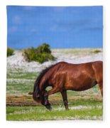 Cedar Island Wild Mustangs 59 Fleece Blanket