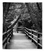 Cedar Pathway Fleece Blanket