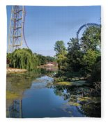 Cedar Point Ohio Fleece Blanket
