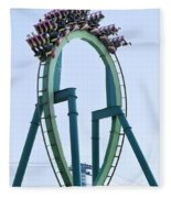 Cedar Point Roller Coaster Fleece Blanket