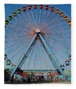 Cedar Point Sunday Fleece Blanket
