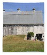 Cedar View Farm Barn Fleece Blanket
